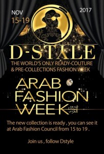 Arab Fashion Week Novembre 2017